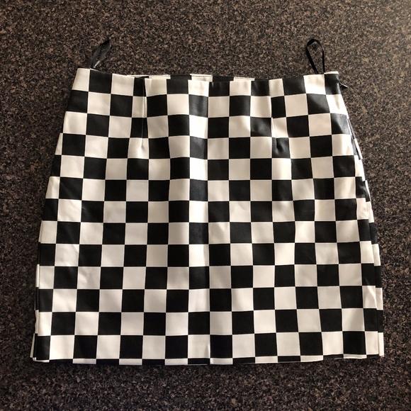 Forever 21 Dresses & Skirts - Checkered Pleather Skirt - F21